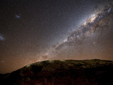 The Milky Way Rising Above the Hills of Azul, Argentina