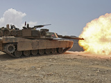 Marines Bombard Through a Live Fire Range Using M1A1 Abrams Tanks
