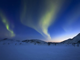 Aurora Borealis over Skittendalen Valley in Troms County, Norway