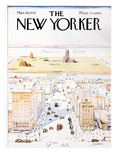 The New Yorker Cover, View of the World from 9th Avenue - March 29, 1976 Giclee Print