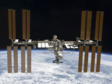 Buy The International Space Station in Orbit Above Earth at AllPosters.com