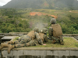 Marines Engage Unknown-Distance Targets at Camp Schwab, Japan