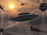 Buy Artist's Concept of Alien Stealth Technology at AllPosters.com