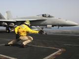 A Shooter Launches an F/A-18E Super Hornet from USS Dwight D Eisenhower