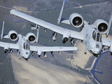 Two A-10C Thunderbolt II Aircraft Fly in Formation