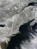 Satellite View of Snow in the Northeastern United States