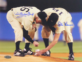 Whitey Ford/Don Larsen Yankee Stadium Final Game Scooping Dirt Horizontal Photo