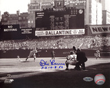 Don Larsen Autographed 'PG 10-8-56' First Pitch Photograph