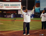 Doc Gooden Autographed 'Shea Goodbye' Wave To The Crowd Horizontal Photograph