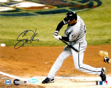 Scott Podsednik Autographed 2005 World Series Game Four Triple Photograph