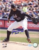 Orlando Hernandez Action Autographed Photo (Hand Signed Collectable)