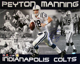 Peyton Manning Indianapolis Colts Collage Autographed Photo (Hand Signed Collectable)