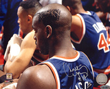 Anthony Mason Side Head Shot Of Knicks Hair Cut Autographed Photo (Hand Signed Collectable)
