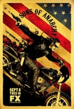 Sons of Anarchy Sons of Anarchy Vintage Huge TV Poster Sons of Anarchy Samcro TV Poster Print Sons of Anarchy - Jax Skull Sons of Anarchy - Bike Circle Sons of Anarchy - Jax Back