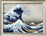 The Great Wave at Kanagawa (from 36 views of Mount Fuji), c.1829 Framed Art Print