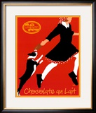 Chocolate au Lait Framed Art Print