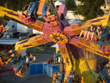 Rides on the Midway at the Iowa State Fair