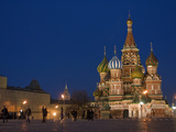 Pedestrians Walk Through Red Square Near Saint Basil's Cathedral