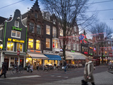 Spui Square on a Winter Evening