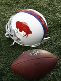 Bills Patriots Football: Foxborough, MA - A Buffalo Bills Throwback Helmet