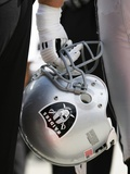Raiders Chiefs Football: Kansas City, MO - Oakland Raiders Helmet