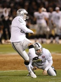 Chargers Raiders Football: Oakland, CA - Sebastian Janikowski and Shane Lechler