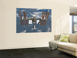 Buy International Space Station Backgropped by a Blue and White Earth at AllPosters.com