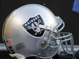 Raiders Steelers Football: Pittsburgh, PA - An Oakland Raiders Helmet