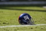 Giants Chiefs Football: Kansas City, MO - New York Giants Helmet