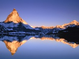Matterhorn reflected in lake Photographic Print