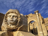 Sculpture of Medusa's Head at Leptis Magna