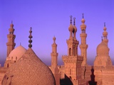 Sultan-Hassan-Mosque in the evening Fotografie-Druck