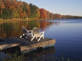 Adirondack Chairs on Dock at Lake