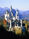 Neuschwanstein Castle in autumn, Bavaria, Germany Photographic Print
