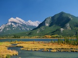 Mount Rundle and Sulphur Mountain from Vermilion Lake