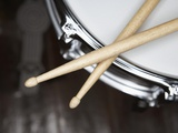 Snare Drum and Drumsticks Photographic Print