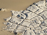 Cracked Rock Formation in Desert
