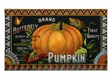 Butterfly Brand Golden Pumpkin Product Label