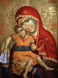 Virgin and Child Icon at Aghiou Pavlou Monastery on Mount Athos