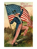Give Us Independence with Uncle Sam Gicl�e-Druck