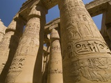 Columns with Hieroglyphs at Karnak Temple