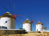Windmills with Thatched Roofs