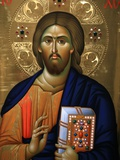 Buy Christ Pantocrator Icon at Aghiou Pavlou Monastery on Mount Athos at AllPosters.com