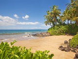 Secluded sandy beach on Maui