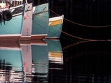 Fishing Boats and Their Reflections in Water, North Head, Grand Manan Island, New Brunswick, Canada