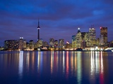View of Toronto Skyline at Night from 'The Docks', Toronto, Ontario, Canada. Photographic Print