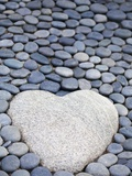 Heart Shaped Stone Fotografie-Druck