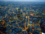 Aerial View of City of London Photographic Print