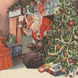 Santa Claus delivering presents