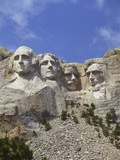 USA, South Dakota , Mount Rushmore Stone Carvings of US Presidents, George Washington, Thomas Jeffe
